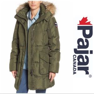 Women's pajar Bryce FAUX FUR parka green military